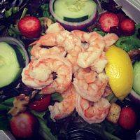 Crispy or Boiled Shrimp Garden Salad