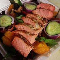 Smoked Salmon Garden Salad