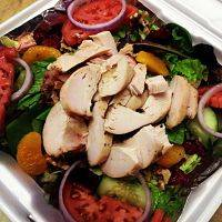 Crispy or Grilled Chicken Garden Salad